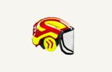 Forestry helmet red/yellow Protos Integral Forest G16 Pfanner